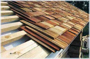 крыша из деревянной дранки